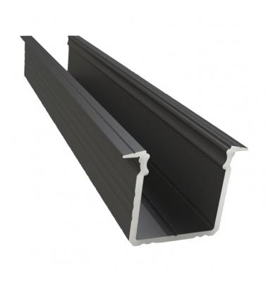 Perfil Aluminio Trazos. Para Empotrar. Tiras LED 10-12 mmc. 1 Metro
