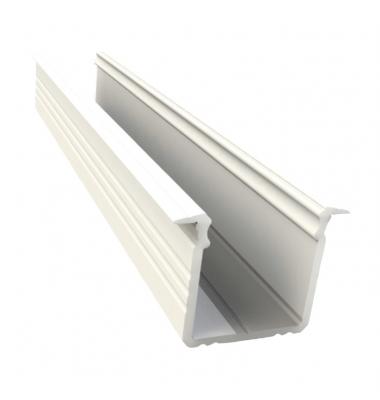 Perfil Aluminio Trazos. Para Empotrar. Tiras LED 10-12 mm, 1 Metro