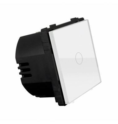 Interruptor Regulador Pulsación Táctil LED de Pared, Blanco, 110-220V, 700W