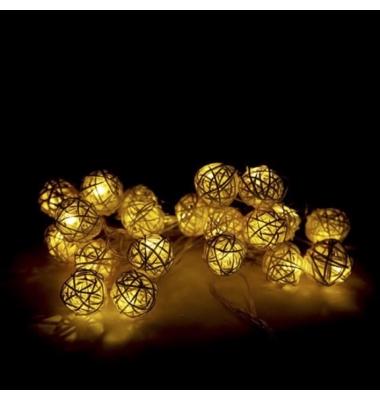 Guirnalda luz Navidad 2W Regulable. Luz cálida. 20 Nidos LEDs