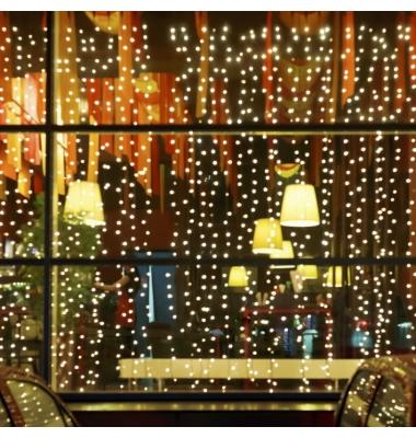 Cortina Luminosa 9W. 3 x 1 metro. Luz cálida. 150 LEDs