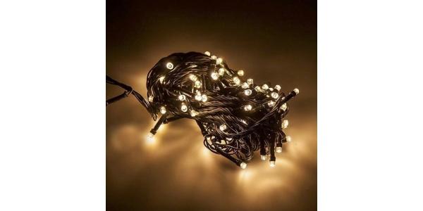 Guirnalda Luminosa 9,4 m. Luz cálida. 100 LEDs. Con mando distancia
