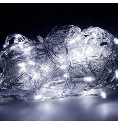 Guirnalda Luminosa 9,4 m. Luz blanca. 200 LEDs. Con mando distancia