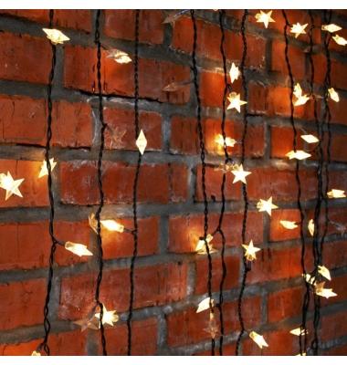 Estrellas Doradas, Guirnalda de 1.5 metros con 10 luces cálida, Funciona con 2 pilas AA