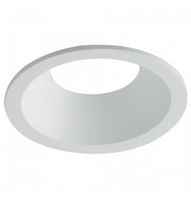 Foco Empotrable Ayris, IP44, Blanco Mate, Anti-deslumbramiento, Ángulo de luz 45º, Bombillas LED GU10 y MR16