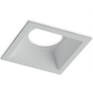 Foco Empotrable Baños, Aluminio. Blanco Mate. Para Bombillas LED GU10 y MR16