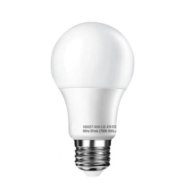 Bombilla LED E27, A60, Estándar, 10W. Blanco Natural de 4000k. Ángulo 300º