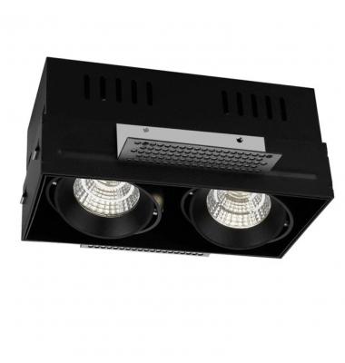 Foco LED Direccionable Box 2*10W. Ángulo 60º