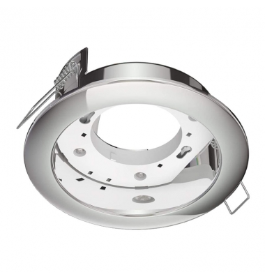 Aro empotrable, IP20, Ground, Blanco, Para Bombilla LED GX53