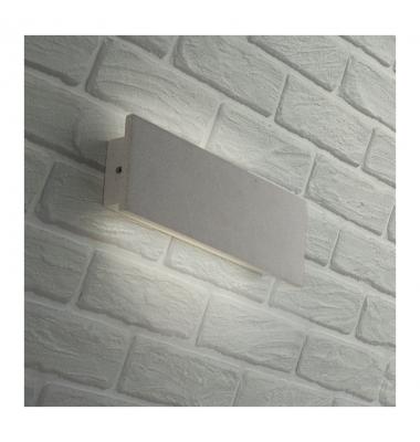Aplique LED de Pared Parker, 8W, Hormigón Blanco, 4000k, Blanco Natural, IP65
