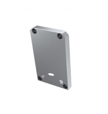 Tapas laterales de cierre, En Aluminio, Perfil Infinity, Con agujero