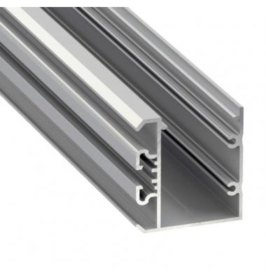 Perfil Aluminio de Superficie Studio Plata. Tiras 2*12mm. 1 metro