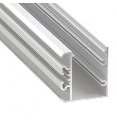 Perfil Aluminio de Superficie Studio. Tiras 2*12mm. 1 metro