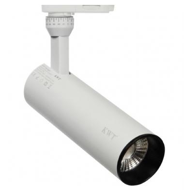 Foco Carril Radiant, Blanco Mate, LED Citizen 15W. 3 encendidos, Ángulo 28º