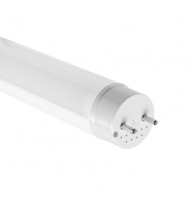 Tubos LED T8 Cristal 1200 mm 18W-1800 lm. Conexión Dos Laterales. Blanco Frío. Ángulo 330º