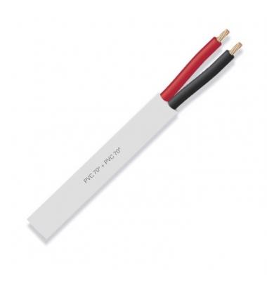 Cable manguera redonda PVC 2x0.75, Flexible, blanco
