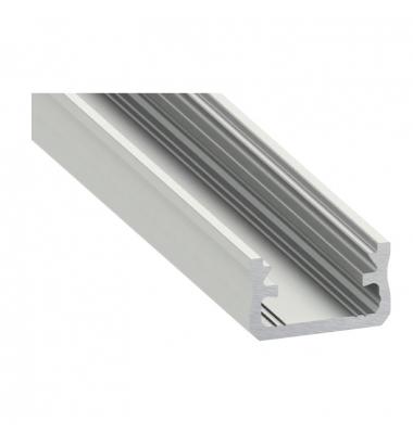 Perfil Aluminio de 2 metros, Superficie Evo, Tiras LED máximo 12mm
