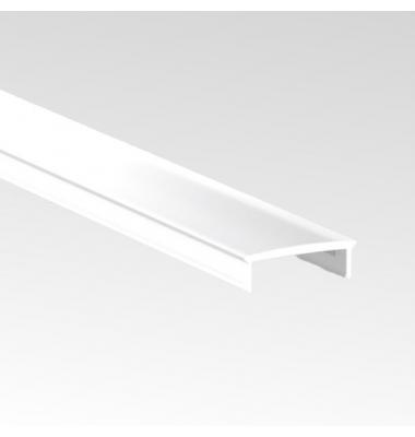 Difusor, Cubierta PMMA, Opal, Transparente y Negro, 2 metros