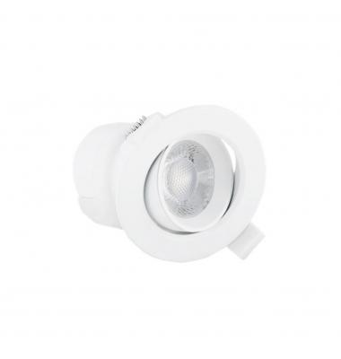 Foco Empotrar Direccionable LED TUB 7W. Blanco Natural de 4000k. Ángulo 38º