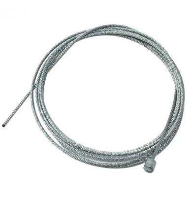 Cable - Tensor de Acero Galvanizado con Terminal. Diámetro 1.2mm. Longitud 3 metros. Máx. 10Kg.