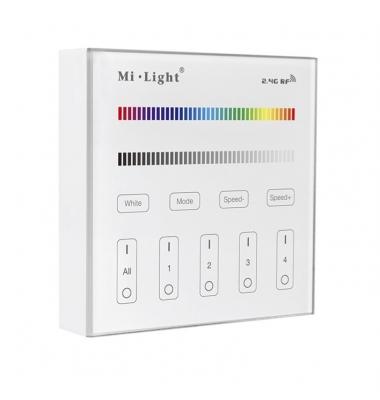 Mando Pared Superficie, 4 Zonas RGB/RGBW, Táctil, 180-240V