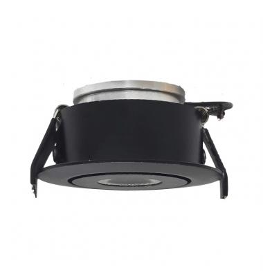 Foco Empotrar LED MINI, Basculante, 3W, Negro Mate. Blanco Natural de 4200k, Ángulo 60º