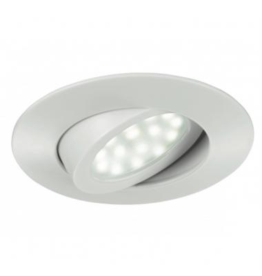 Foco Empotrar LED Zenit, 5W. Blanco Mate, Blanco Cálido de 3000k, Ángulo 120º, Especial Baños