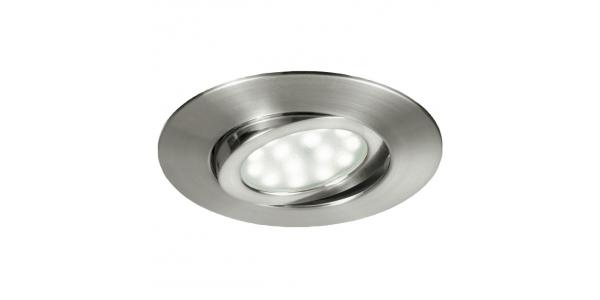 Foco Empotrar LED Zenit, 5W. Níquel Satinado, Blanco Cálido de 3000k, Ángulo 120º, Especial Baños
