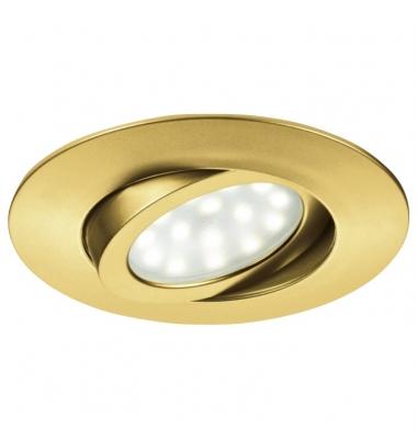 Foco Empotrar LED Zenit, 5W. Oro Mate, Blanco Cálido de 3000k, Ángulo 120º, Especial Baños
