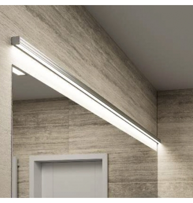 Aplique Pared LED Studio, Longitud 90 centímetros, 19W, 2.988 Lm. 3000k, Acabado Plata