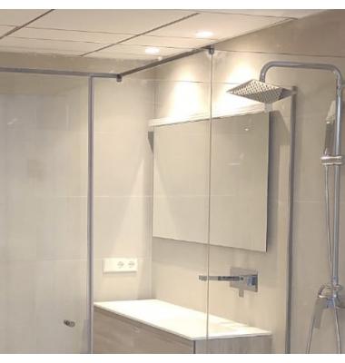 Aplique Pared LED Studio, Longitudo 90 centímetros, 19W, 2.988 Lm. 3000k, Acabado Plata