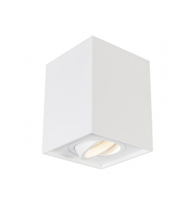 Foco Superficie Orientable Surfy, Cubo, Blanco Mate, para bombilla LED GU10