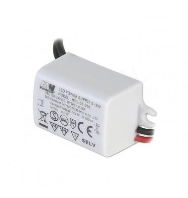 LED Driver 350mA, 6-12VDC, Máximo 3W, IP65