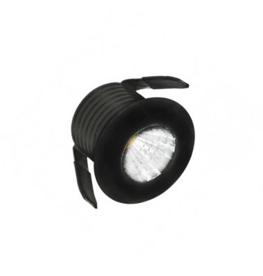 Foco Empotrable LED IP65, Sirio, 1W, Negro Mate, IP20, Ángulo 45º, Blanco Natural de 4000k