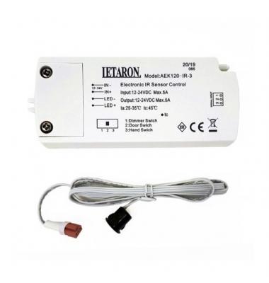Receptor de proximidad, con Sensor, Mano/Puerta, Dimmer, 12V/24VDC