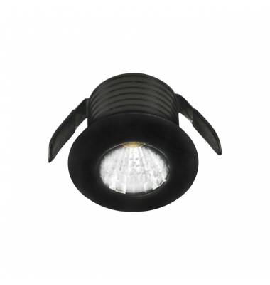 Foco Empotrable LED Sirio, 1W, Negro Mate, IP20, Ángulo 45º, Blanco Natural de 4000k