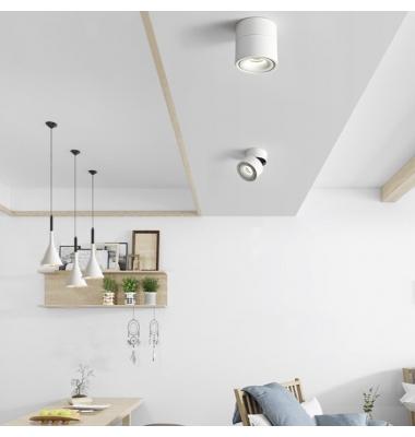 Foco de Superficie Orientable y Basculante, Vinson, LED 13W, Acabado Blanco Mate