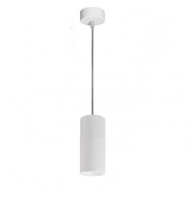 Colgante Cilindro de 16,5 cm. Cable de 2 metros, Bombilla LED GU10