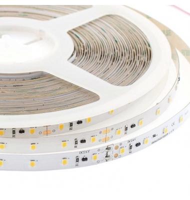 Tira LED 12W/m. 24VDC, SMD3528. Carrete 5 metros. 60 LEDs/m. Interior-IP33, Blanco Natural de 4000k
