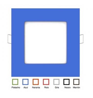 Aro Metacrilato Cuadrado Colores 120 x 120mm
