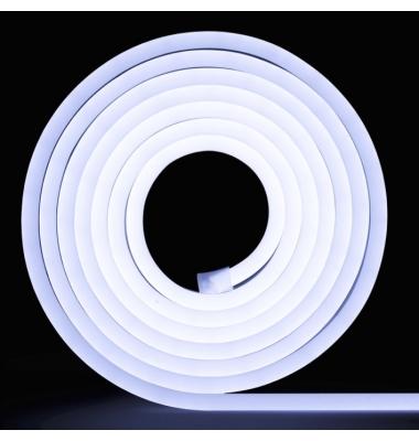 LED Neon Tubo NS0816, Monocolor, 24V, 12W/m, 350Lm/W, Emisión Superior. 5 metros, IP65