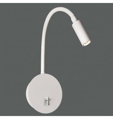 Aplique Pared Lyon de la marca ACB. 3W LED, Blanco Cálido de 3000k, Acabado Blanco Texturado