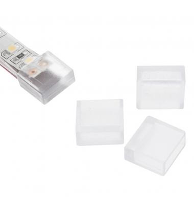 Tapa de silicona sin orificio, para tira de LED impermeable de 10 mm FPC, IP65, IP67