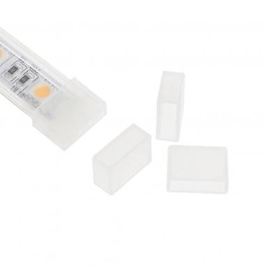 Tapa de silicona con orificio, para tira de LED impermeable de 8 mm FPC, IP65, IP67