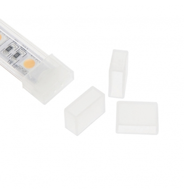 Tapa de silicona con orificio, para tira de LED impermeable de 10 mm FPC, IP65, IP67