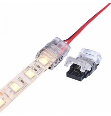 Conector sin Soldadura, Conexión Cable con Tira Monocolor de 10mm. IP20