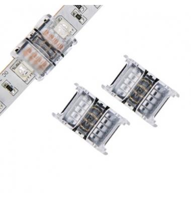 Conector sin Soldadura, Conexión Tira con Tira RGB de 10mm. IP20
