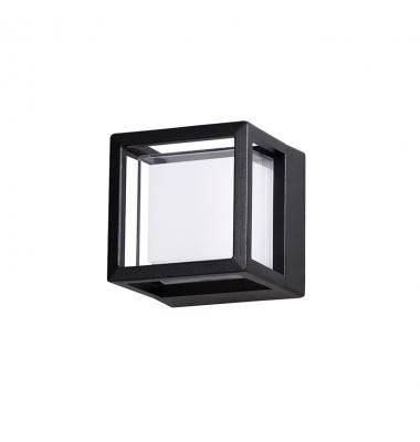 Aplique Exterior LED Agosto, 6W. 430 Lm. Negro Mate, Blanco cálido de 3000k