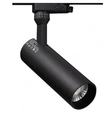 Foco Carril Radiant, Negro Mate, LED Citizen 15W. 3 encendidos, Ángulo 28º