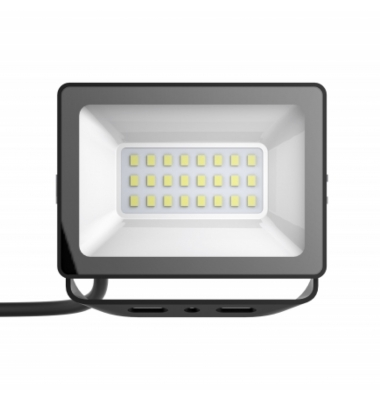 Foco Proyector Tablet, Negro Mate, LED Epistar 10W, Exterior, IP67